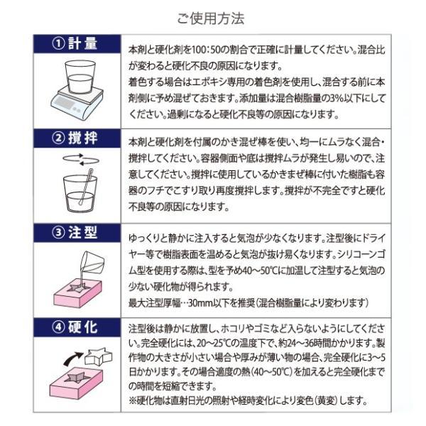 粘土 型取り・注型材料 クラフトアレンジ CA エポレジン (300gセット)|shugale1|03
