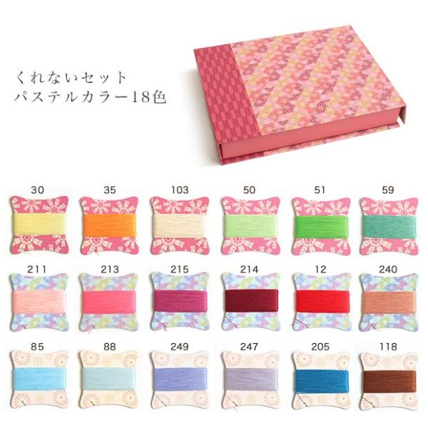 生地 糸 シャッペスパン 手縫い糸 華カード 18色 50/40m|手縫い糸 華 糸 プレゼント ギフト セット 手芸 和調|期間限定SALE||shugale1|05