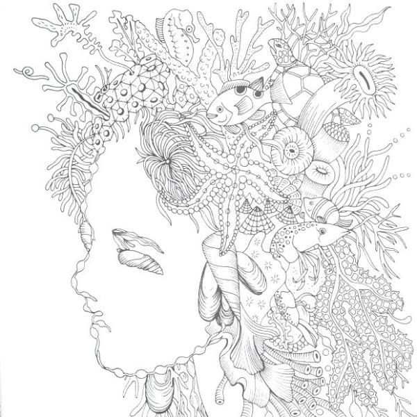 クラフト ホビークラフト 物語のある美しい塗り絵 不思議の国のアリス