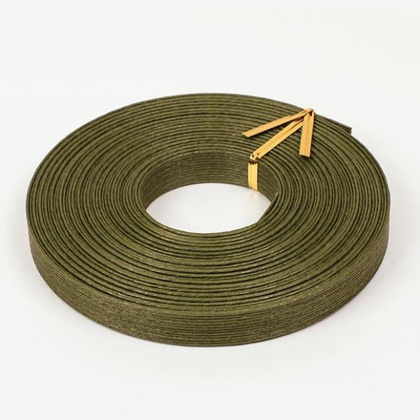 エコクラフト あみんぐテープ 【10m巻】 112 モスグリーン|アミングテープ エコクラフトテープ 紙バンド トーカイ