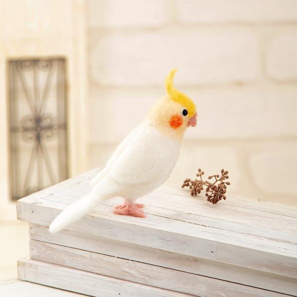 ハマナカ アクレーヌでつくるかわいい小鳥 オカメインコ H441-524   手作り クラフト 手芸キット 羊毛フェルト フェルト フエルト マスコット shugale1