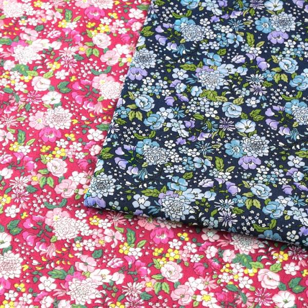 コットンこばやし フラワー2 ブロード (1m単位)|切売り 生地 布 布地 綿 コットン 綿100 花柄 フラワー柄 フラワープリント トーカイ|shugale1