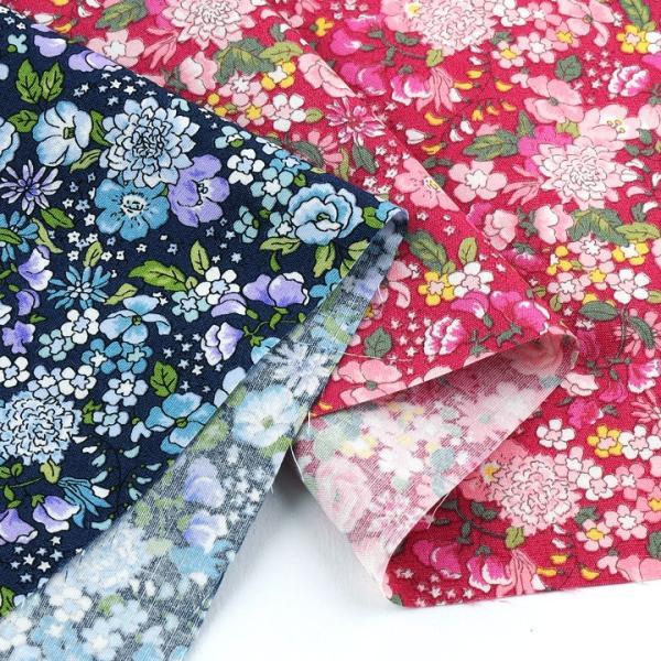 コットンこばやし フラワー2 ブロード (1m単位)|切売り 生地 布 布地 綿 コットン 綿100 花柄 フラワー柄 フラワープリント トーカイ|shugale1|04