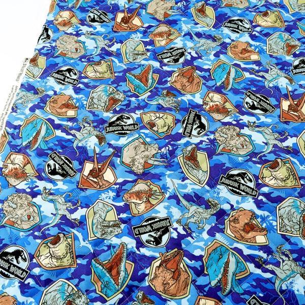 ジュラシック・ワールド オックスキルト (50cm単位)|切売り 布 布地 生地 キルト キルティング 恐竜 迷彩 ジュラシックワールド|shugale1|02