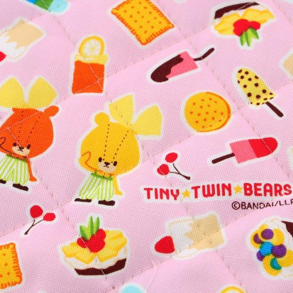 TINY TWINBEARS ガンバレ!ルルロロ スイーツ オックスキルト (50cm単位)|切売り 布 布地 生地 キルト キルティング くまがく|shugale1