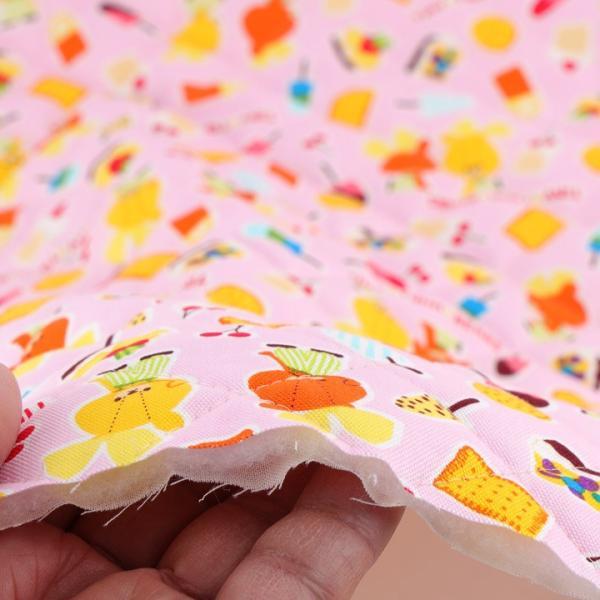 TINY TWINBEARS ガンバレ!ルルロロ スイーツ オックスキルト (50cm単位)|切売り 布 布地 生地 キルト キルティング くまがく|shugale1|05