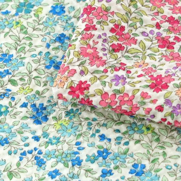 コットンこばやし フラワー ポプリンリップル (1m単位)|切売り 生地 布 布地 綿 コットン 綿100 花柄 フラワー柄 フラワープリント|shugale1