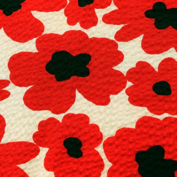 コットンこばやし 北欧調フラワー ポプリンリップル (1m単位)|切売り 生地 布 布地 綿 コットン 綿100 花柄 フラワー柄 フラワープリント 北欧|shugale1|02