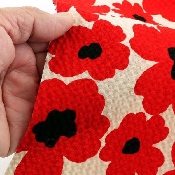 コットンこばやし 北欧調フラワー ポプリンリップル (1m単位)|切売り 生地 布 布地 綿 コットン 綿100 花柄 フラワー柄 フラワープリント 北欧|shugale1|05