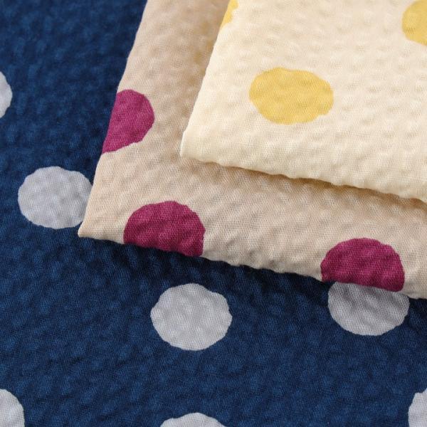 コットンこばやし ふぞろい水玉 ポプリンリップル (1m単位)|切売り 生地 布 布地 綿 コットン 綿100 水玉 ドット 浴衣 ゆかた ゆかた生地|shugale1