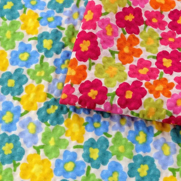 コットンこばやし 北欧調フラワーフィールド ポプリンリップル (1m単位) 切売り 生地 布 布地 綿 コットン 綿100 花柄 フラワー柄 フラワープリント shugale1