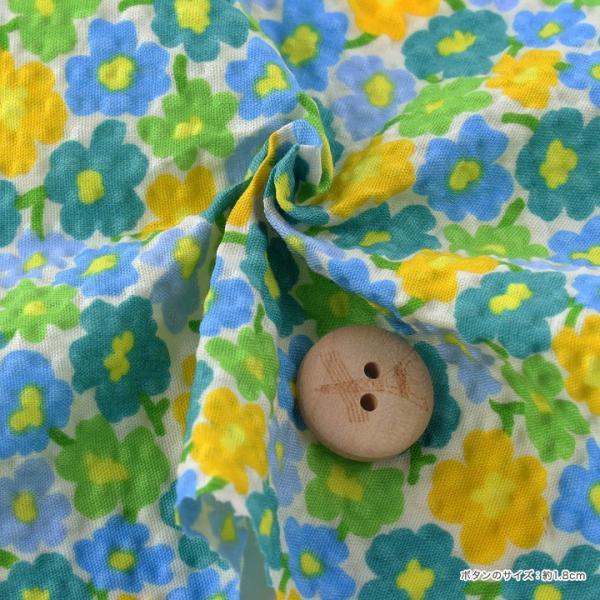 コットンこばやし 北欧調フラワーフィールド ポプリンリップル (1m単位) 切売り 生地 布 布地 綿 コットン 綿100 花柄 フラワー柄 フラワープリント shugale1 03