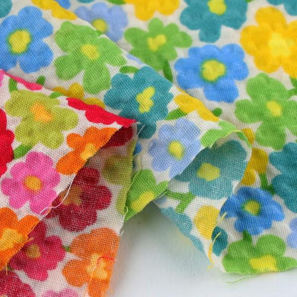 コットンこばやし 北欧調フラワーフィールド ポプリンリップル (1m単位) 切売り 生地 布 布地 綿 コットン 綿100 花柄 フラワー柄 フラワープリント shugale1 04