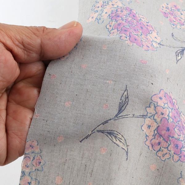 【当社限定】 mOmen-t florist アジサイ 綿麻シーチング (1m単位)|切売り 生地 布 布地 服地 花柄 フラワープリント トーカイ|shugale1|06