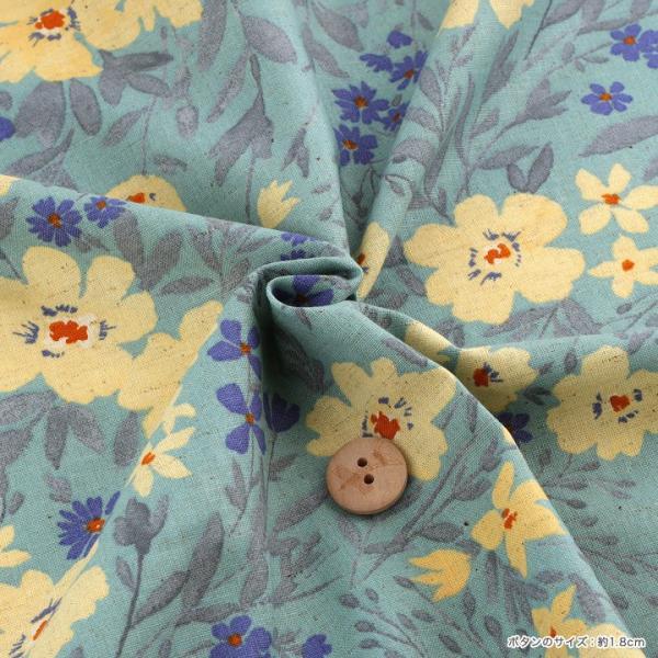 【当社限定】 mOmen-t florist 大花 綿麻シーチング (1m単位)|切売り 生地 布 布地 服地 花柄 フラワープリント トーカイ|shugale1|04
