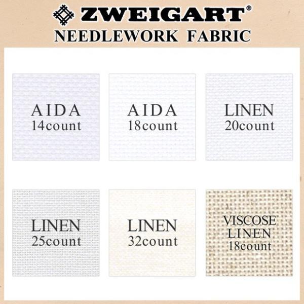 刺繍 刺しゅう布 ZWEIGART ツバイガルト リネン 32カウント カットクロス 45×45cm|shugale1|03