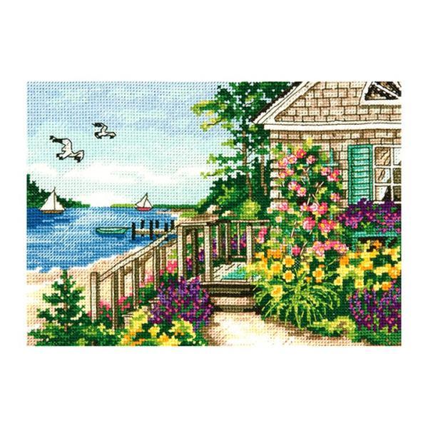 刺繍 Dimensions Bayside Cottage|刺しゅうキット クロスステッチ GOLDCOLLECTION PETITES|shugale1
