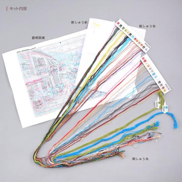 刺繍 Dimensions Overlook Cafe|刺しゅうキット クロスステッチ GOLDCOLLECTION PETITES|shugale1|02