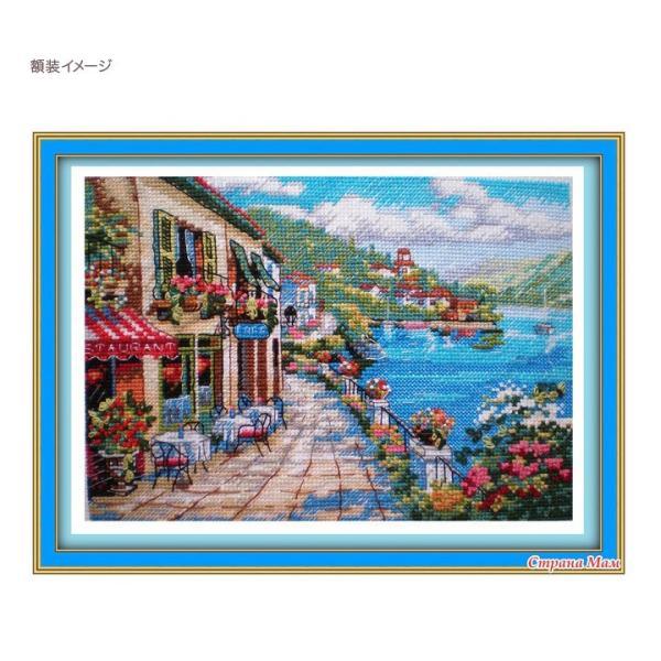 刺繍 Dimensions Overlook Cafe|刺しゅうキット クロスステッチ GOLDCOLLECTION PETITES|shugale1|03
