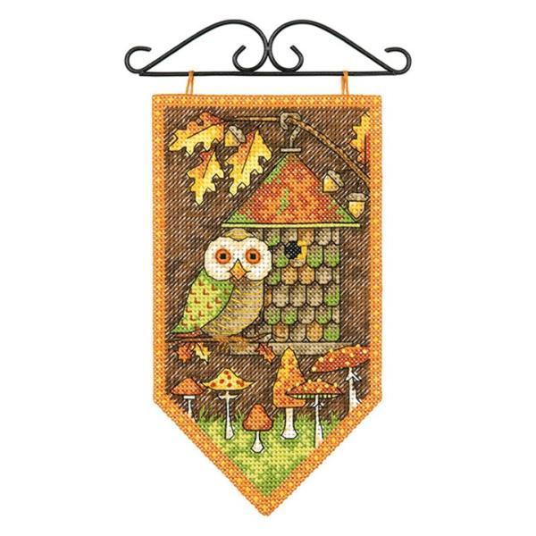 刺繍 Dimensions Mini Banner - Fall (with Hanger)|刺しゅうキット クロスステッチ|shugale1