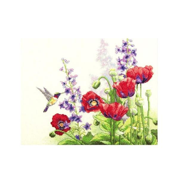 刺繍 Dimensions Hummingbird & Poppies 刺しゅうキット クロスステッチ shugale1