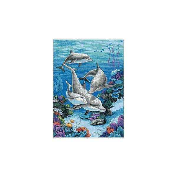 刺繍 Dimensions The Dolphins' Domain|刺しゅうキット クロスステッチ|shugale1
