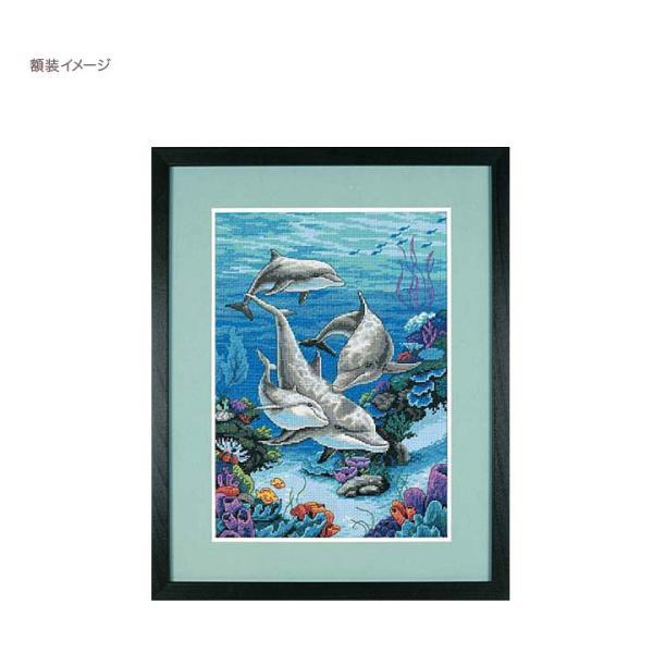 刺繍 Dimensions The Dolphins' Domain|刺しゅうキット クロスステッチ|shugale1|03