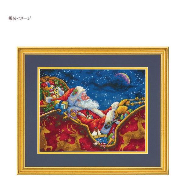 刺繍 Dimensions Santa's Midnight Ride|刺しゅうキット クロスステッチ GOLDCOLLECTION クリスマス|shugale1|03