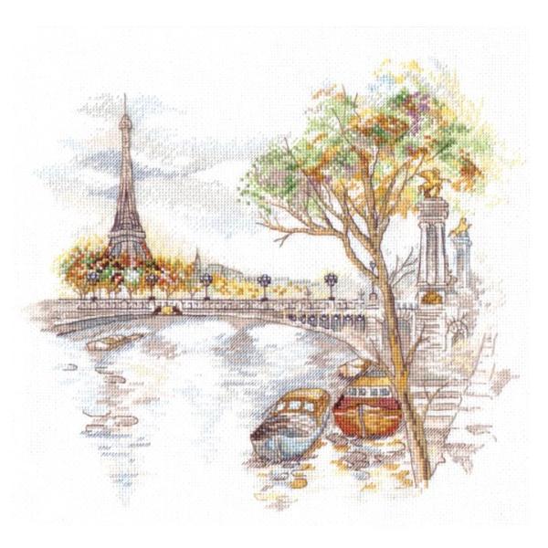 刺繍 Oben Autumn Paris 秋のパリ 風景画 エッフェル塔 輸入キット shugale1