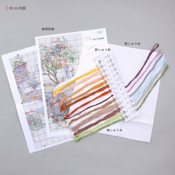 刺繍 Oben Autumn Paris 秋のパリ 風景画 エッフェル塔 輸入キット shugale1 02