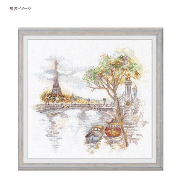 刺繍 Oben Autumn Paris 秋のパリ 風景画 エッフェル塔 輸入キット shugale1 03