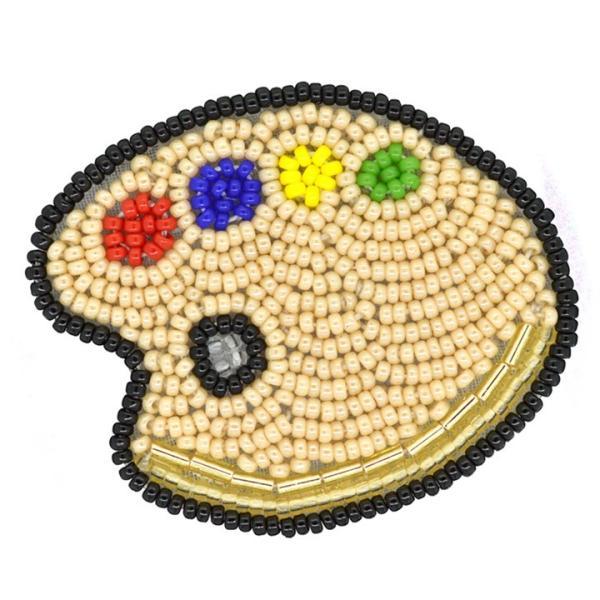 ビーズ刺しゅう ブローチキット 4色パレット|かわいい ブローチ MIYUKI|shugale1