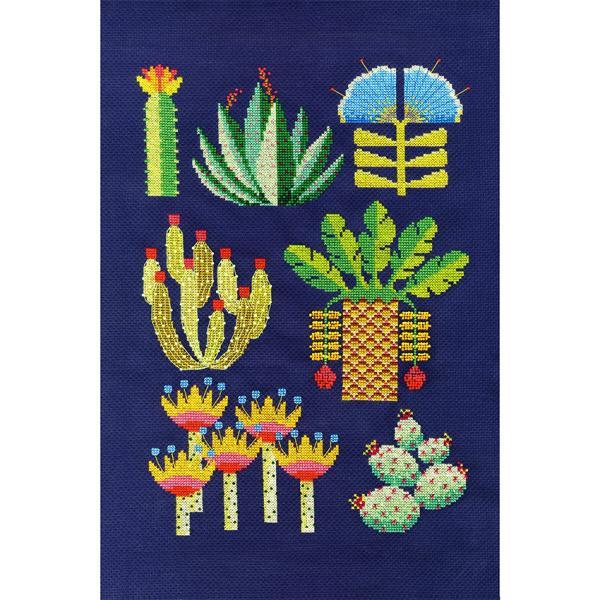 DMC クロスステッチキット フラワー&ボタニカル DESERT 砂漠 BK1931 サボテン 多肉植物 サボテンの花 クロスステッチキット ポップ