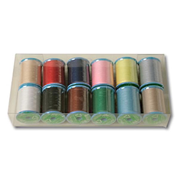 生地 ソーイング副資材・用品 糸 GXミシン糸150m巻き12色セット shugale1