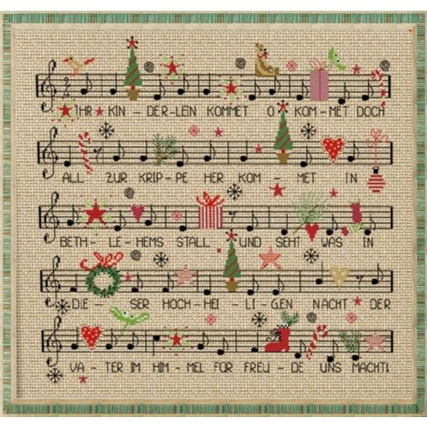 クロスステッチキット クリスマスソング 楽譜 クリスマスキャロル 刺繍キット shugei-chiffon