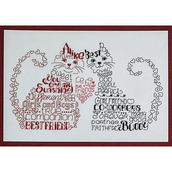 クロスステッチキット 猫 Imaginating クロスステッチ チャート 図案 猫 アルファベット 友達 送料無料 shugei-chiffon