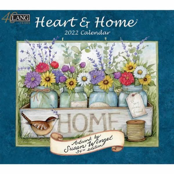 ラング(LANG)USA カレンダー2022Heart&Home