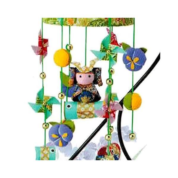 ちりめん細工 キット つるし飾り 鯉のぼり と兜 の端午の節句(緑) つり台M付 shugeiya 02