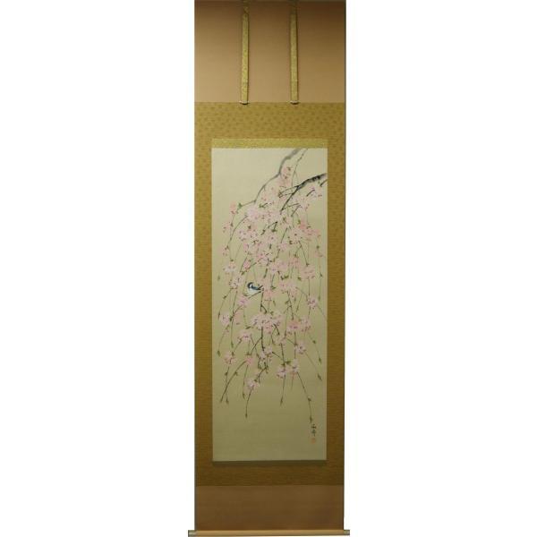 掛軸「枝垂桜」 大野紅節|shukeido-net