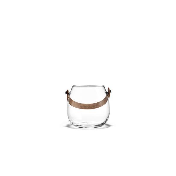 在庫限り20%オフ HOLMEGAARD レザーハンドル付ガラスポット H10cm|shuno-su