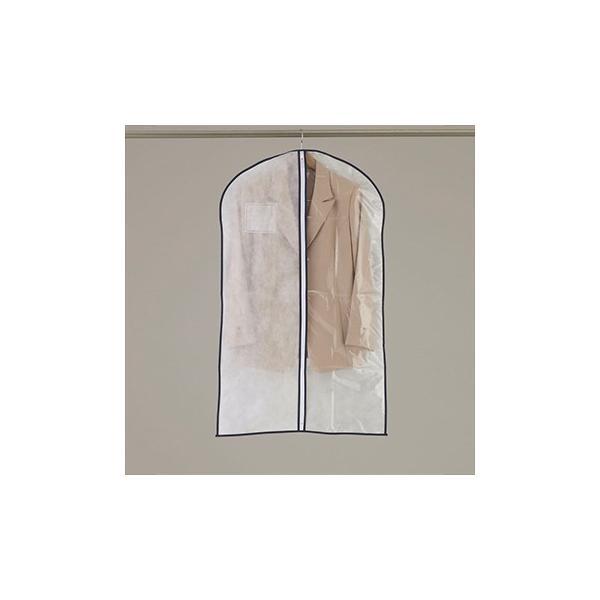 洋服カバー センターファスナーカバー半身透明 S 3枚入|shuno-su