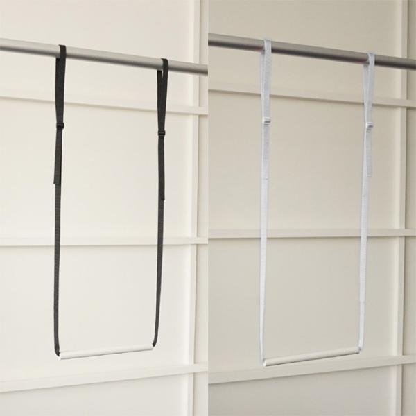 5本までメール便対応 クローゼット収納 クローゼットブランコW25 洋服の選びやすさ&収納効率UP 簡単に2段バーができる|shuno-su|02