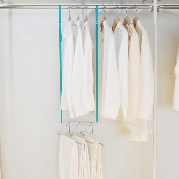 5本までメール便対応 クローゼット収納 クローゼットブランコW25 洋服の選びやすさ&収納効率UP 簡単に2段バーができる|shuno-su|06