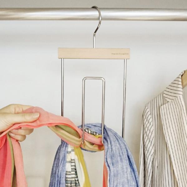 ストールハンガー 片手でOK!ストール収納 スムーズストールハンガー ※在庫一掃のための最終価格 スカーフハンガー スカーフホルダー スカーフ収納|shuno-su