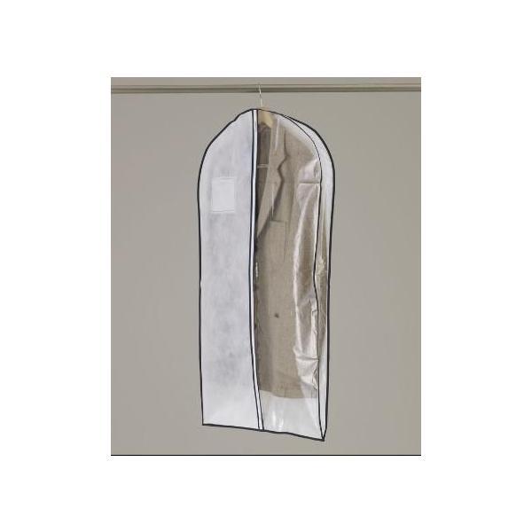 洋服カバー マチ付きセンターファスナーカバー半身透明 S 3枚入|shuno-su|02