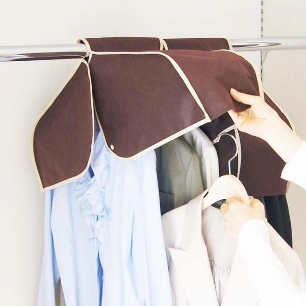 洋服カバー 衣装カバー ショルダー丈の洋服カバー 3枚までメール便対応|shuno-su|03