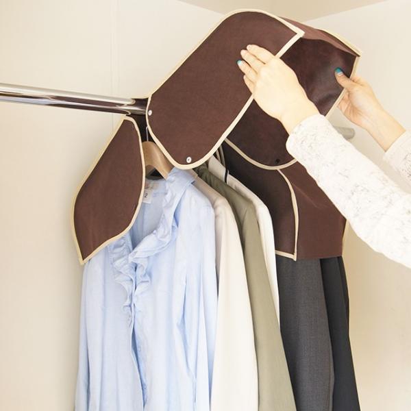 洋服カバー 衣装カバー ショルダー丈の洋服カバー 3枚までメール便対応|shuno-su|04