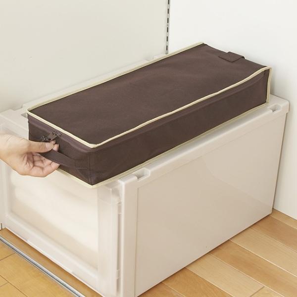 2枚までメール便対応 クローゼットのすき間収納に 不織布製のソフトケース スペースフィットケースS10|shuno-su|04