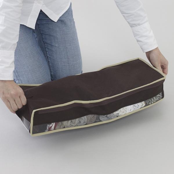 2枚までメール便対応 クローゼットのすき間収納に 不織布製のソフトケース スペースフィットケースS10|shuno-su|05
