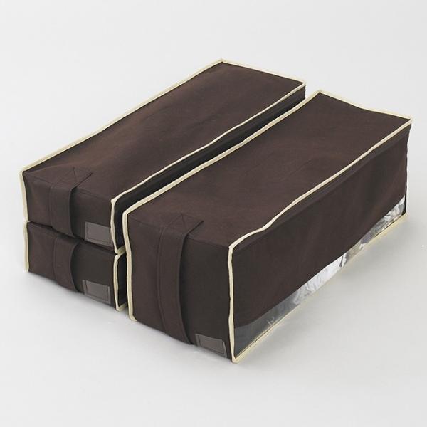 2枚までメール便対応 クローゼットのすき間収納に 不織布製のソフトケース スペースフィットケースS10|shuno-su|06